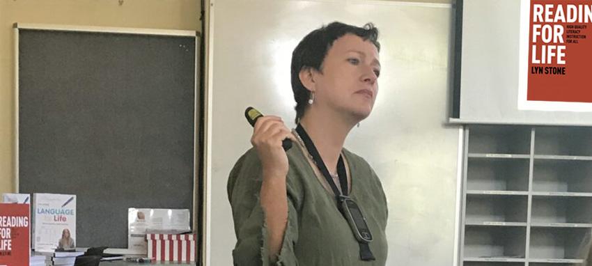 Lyn Stone speaking at professional development